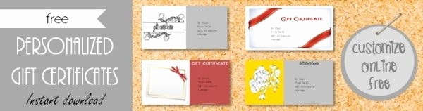 Online Gift Certificate Template Inspirational Free Gift Certificate Template 101 Designs
