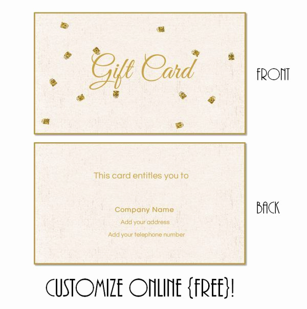 Online Gift Certificate Template Inspirational Gift Card Template