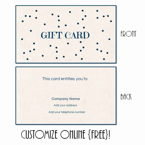 Online Gift Certificate Template Luxury Free Printable T Card Templates that Can Be Customized