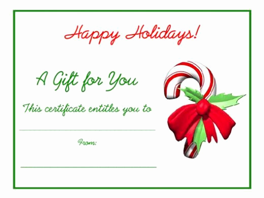 Online Gift Certificate Template New Free Holiday Gift Certificates Templates to Print