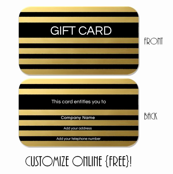 Online Gift Certificate Template New Free Printable T Card Templates that Can Be Customized