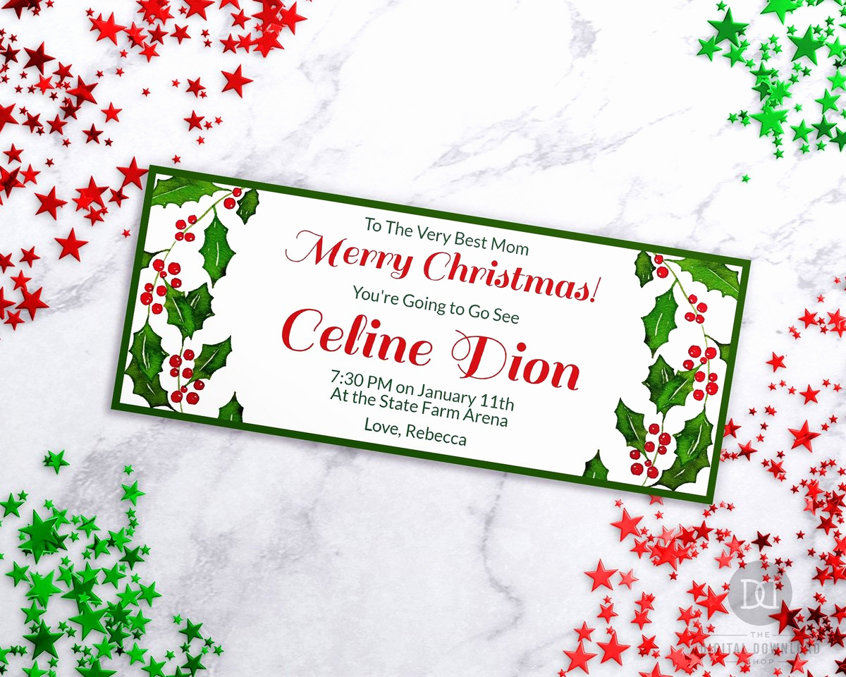 Online Gift Certificate Template Unique Christmas Gift Certificate Template Watercolor Holly