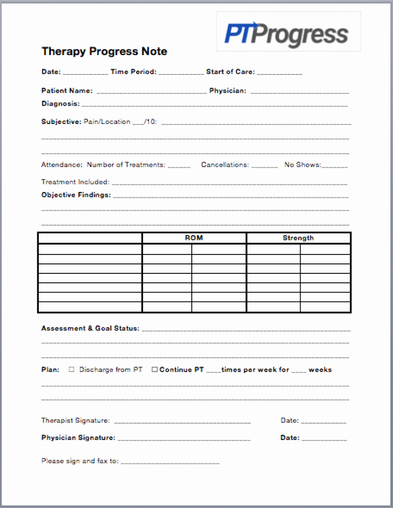 Ot Progress Note Template Fresh How to Write A Progress Note