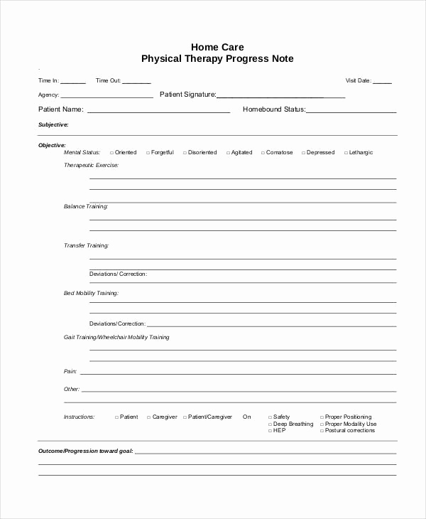 Ot Progress Note Template New Free 5 therapy Note Examples & Samples In Pdf