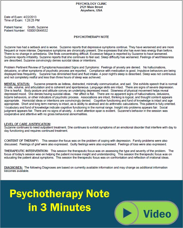 Outpatient Psychiatric Progress Note Template Elegant Psychotherapy Progress Notes Template Google Search