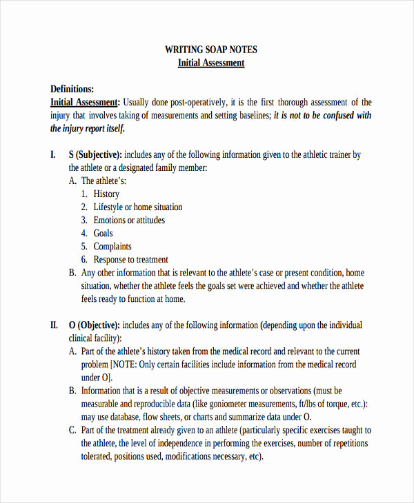Outpatient Psychiatric Progress Note Template Elegant soap Note Example – Free Download