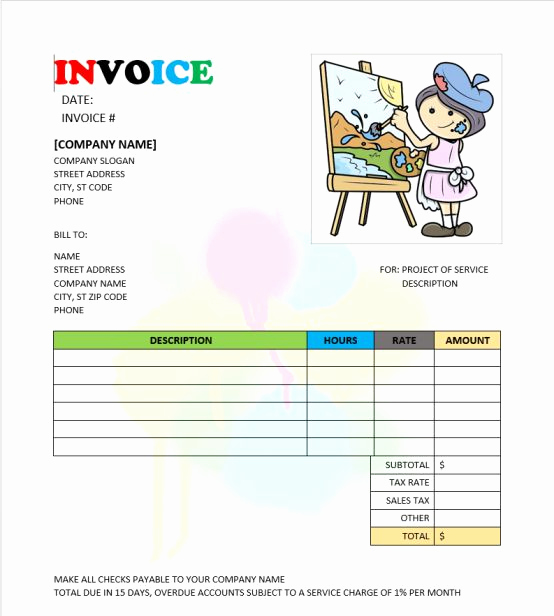 Painters Invoice Template Free Best Of Painting Invoice Templates