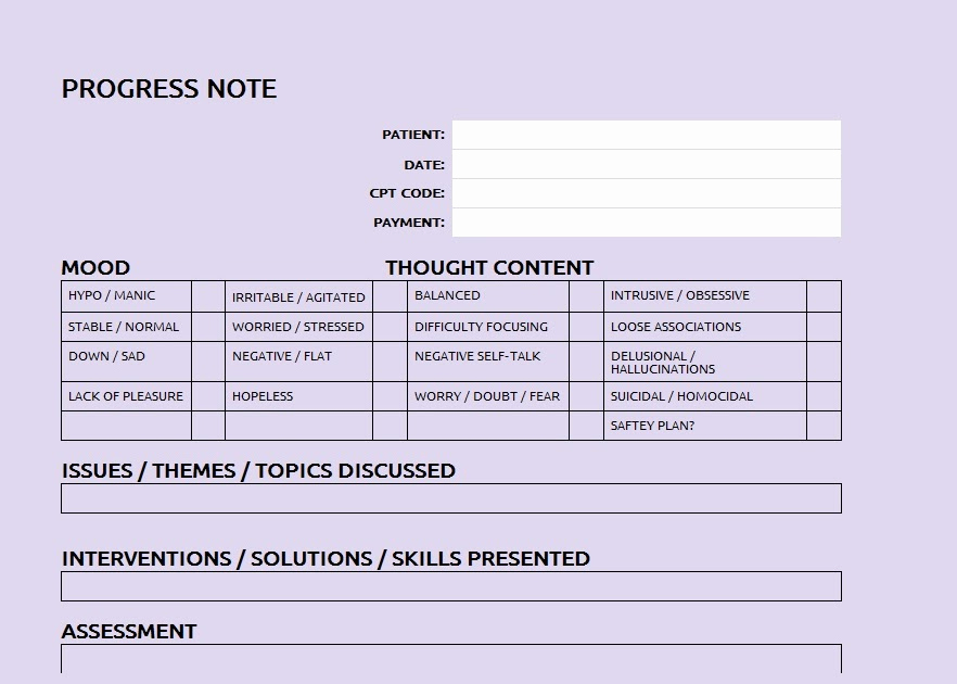 Patient Progress Notes Template Lovely Patient Progress Note Template Sample