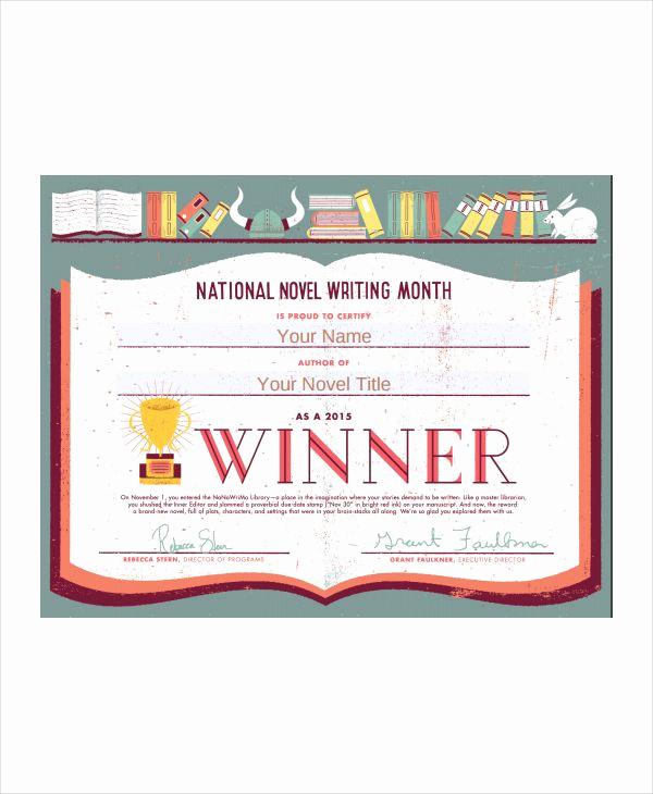 Pdf Certificate Template Free Beautiful 10 Winner Certificate Templates