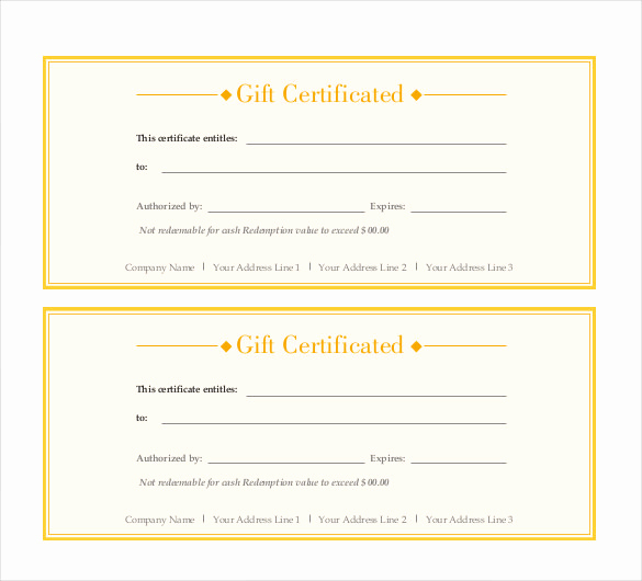 Pdf Certificate Template Free Best Of Gift Certificate Template – 34 Free Word Outlook Pdf
