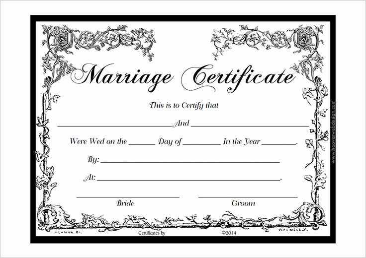 Pdf Certificate Template Free Inspirational Marriage Certificate Template Pdf