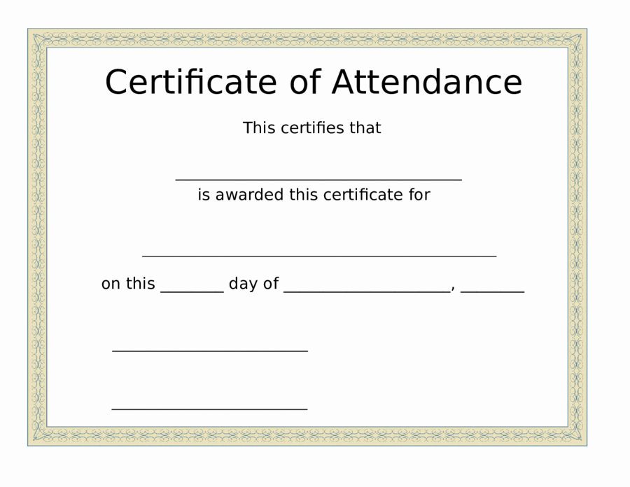 Pdf Certificate Template Free Lovely Printable Certificate Of attendance Pdf