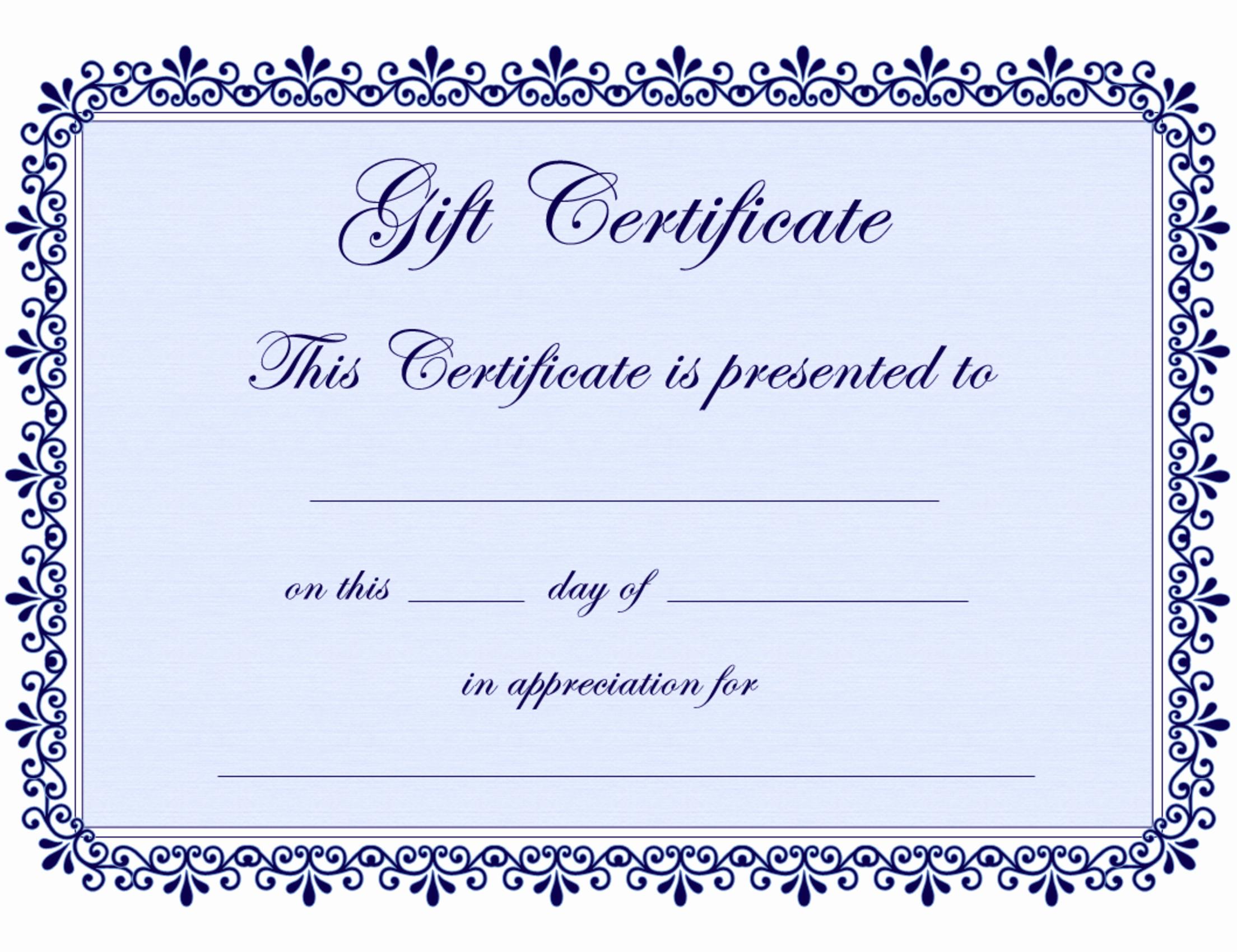 Pdf Certificate Template Free Luxury Certificate Templates