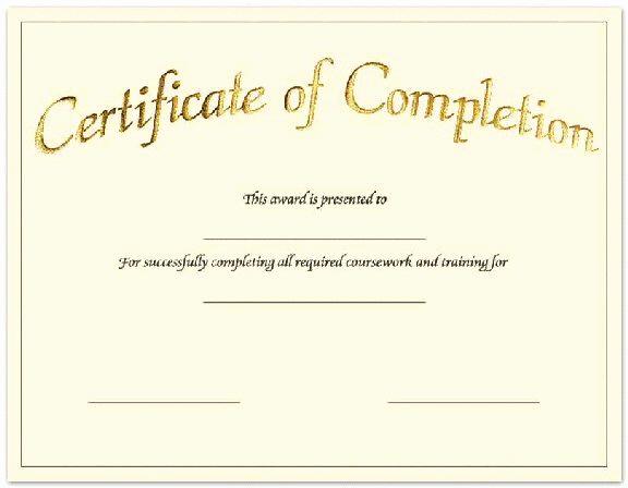 Pdf Certificate Template Free Luxury Free Blank Certificate Of Pletion Pdf