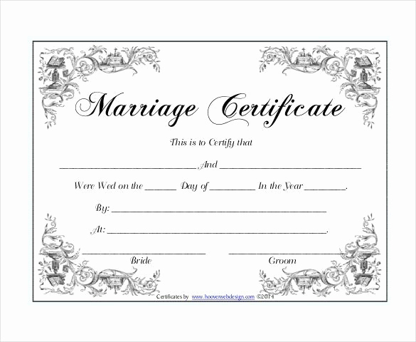 Pdf Certificate Template Free New 10 Marriage Certificate Templates