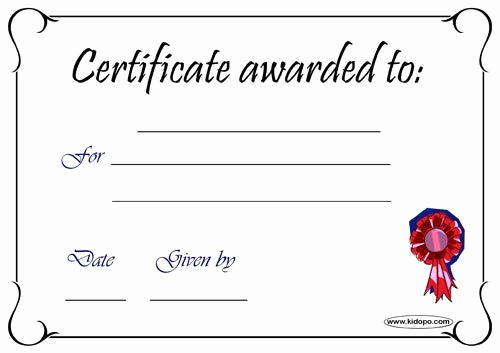 Pdf Certificate Template Free Unique Blank Certificates Pdf