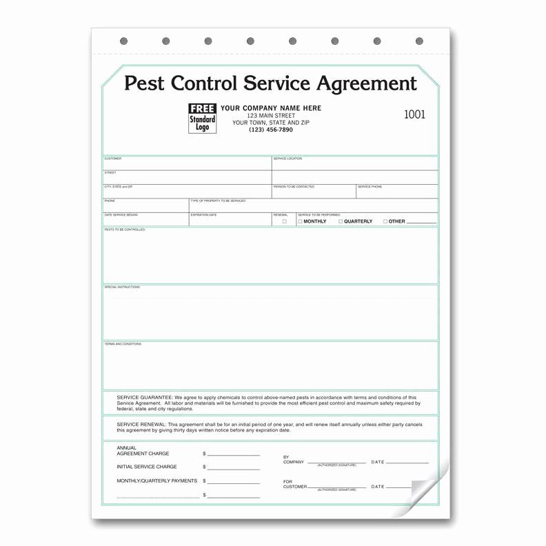 Pest Control Invoice Template Beautiful Pest Control Service Agreement