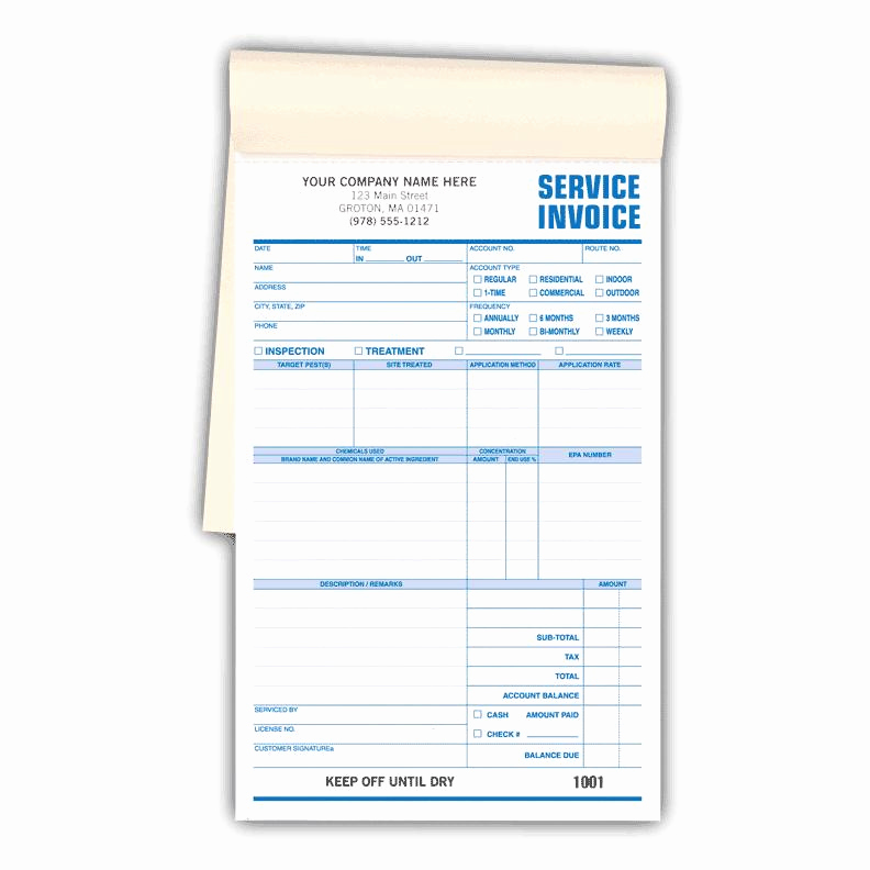 Pest Control Invoice Template Elegant Pest Control forms Work orders Invoices