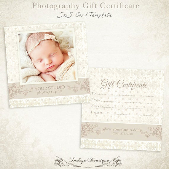 Photo Gift Certificate Template Awesome Graphy Gift Certificate Photoshop Template by
