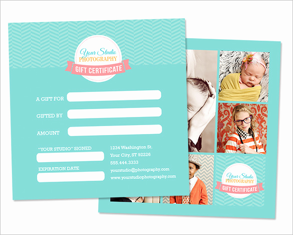 Photo Gift Certificate Template Awesome Graphy Gift Certificate Templates – 17 Free Word