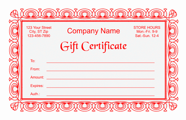 Photo Gift Certificate Template Beautiful Gift Certificate Template 2