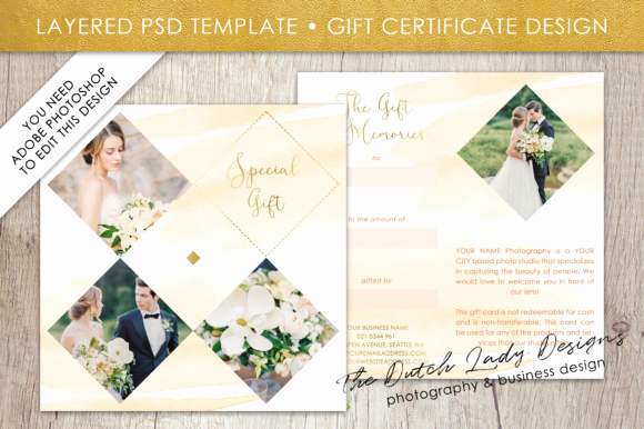 Photo Gift Certificate Template Elegant Graphy Gift Certificate Template Gift Card