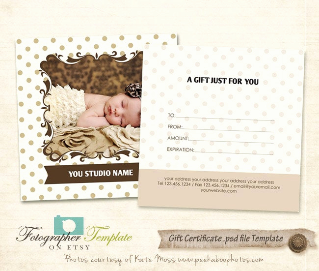 Photo Gift Certificate Template Lovely Gift Certificate Card Template Graphy Templates