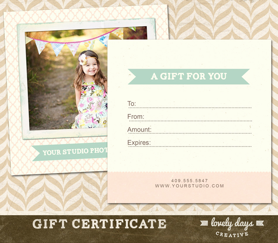 Photo Gift Certificate Template Lovely Graphy Gift Certificate Template for Professional