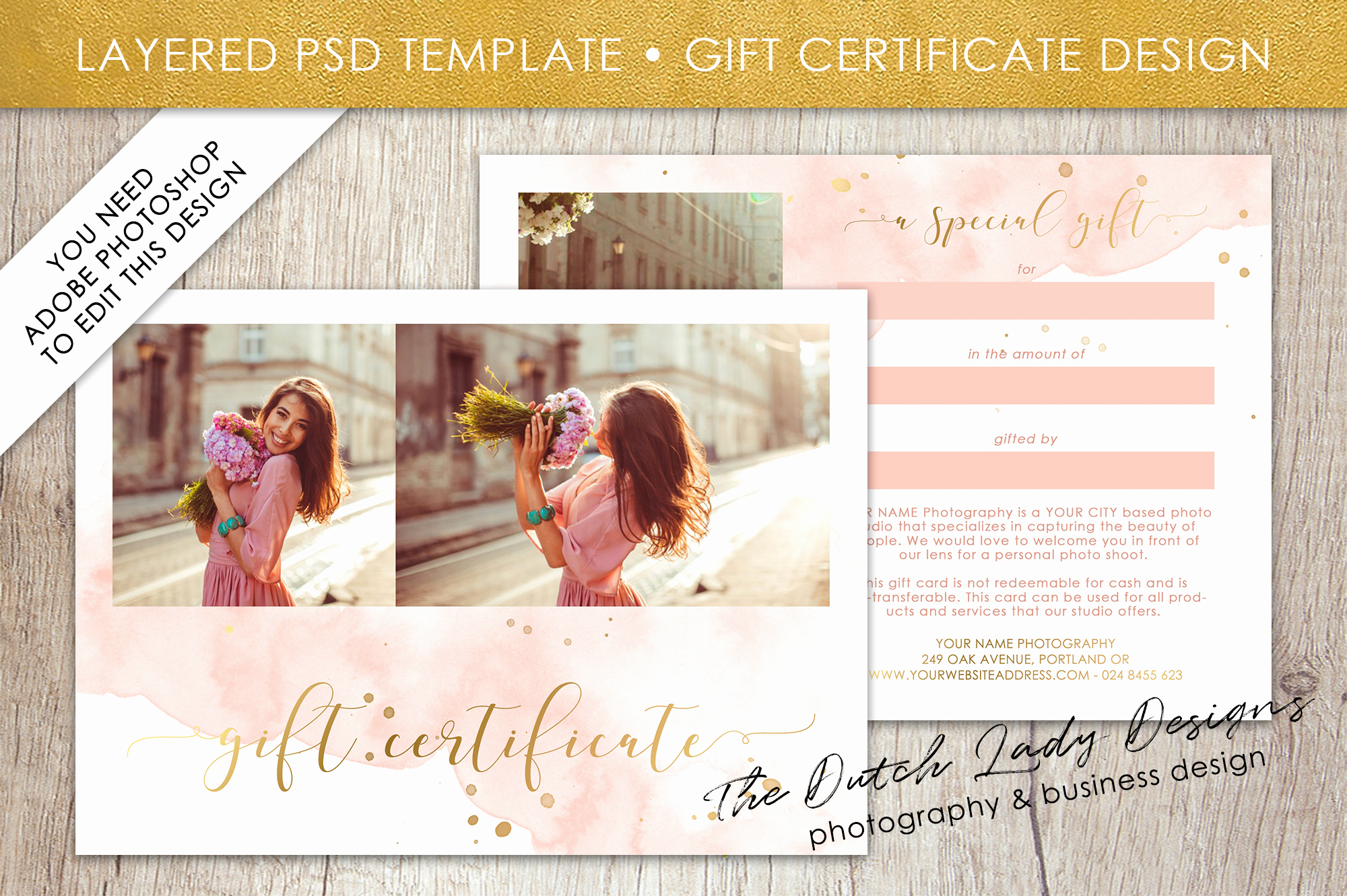 Photo Gift Certificate Template Lovely Graphy Gift Certificate Template Gift Card