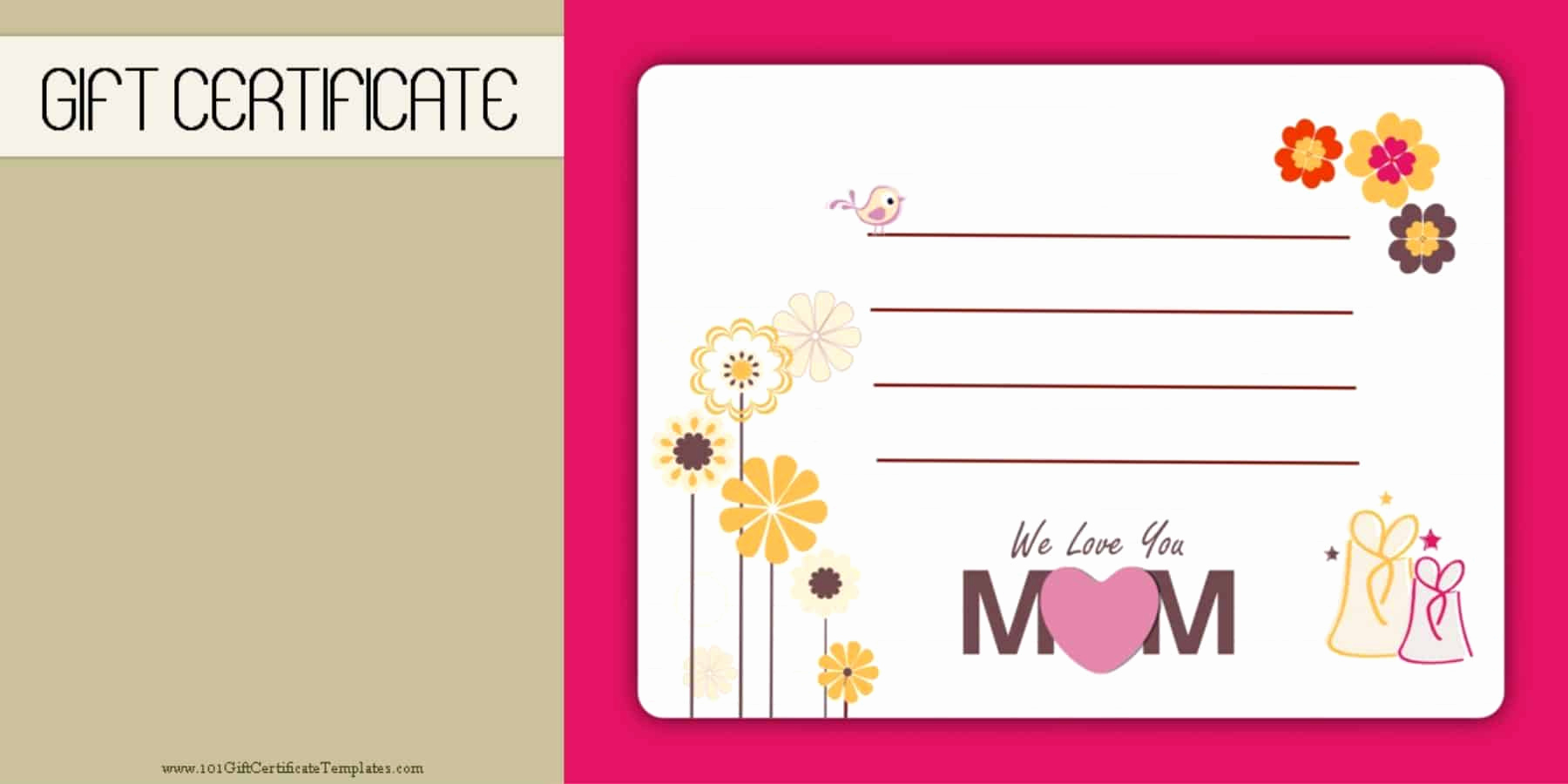 Photo Gift Certificate Template Lovely Mother S Day Gift Certificate Templates