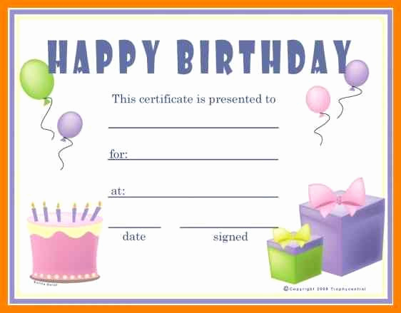 Photo Gift Certificate Template New Gift Certificates Templates Free Printable Birthday Gift