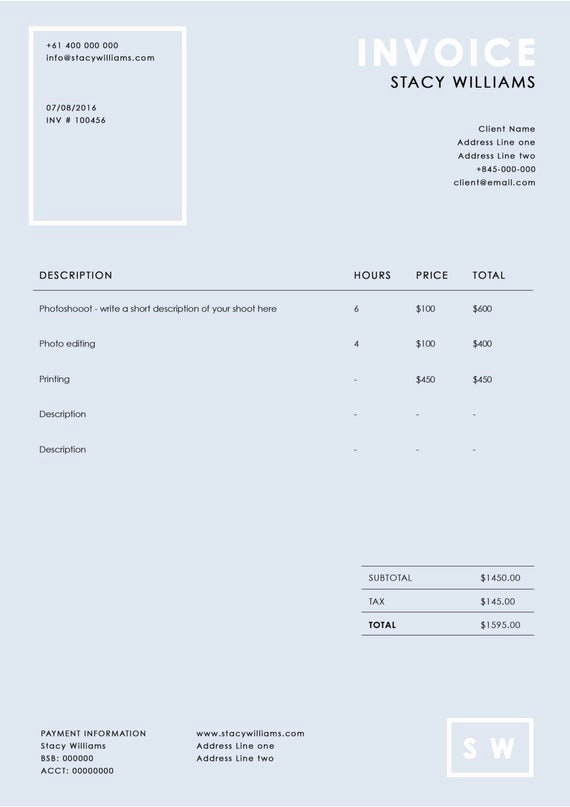 Photography Invoice Template Word Awesome Graphy Invoice Template Graphy Receipt Ms Word