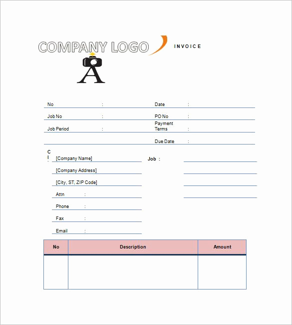Photography Invoice Template Word Elegant Graphy Invoice Template â 8 Free Word Excel Pdf format