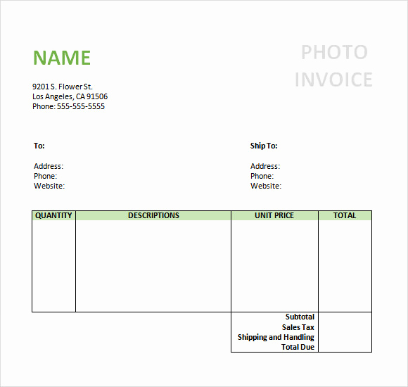 Photography Invoice Template Word Inspirational Free 10 Graphy Invoice Samples In Google Docs
