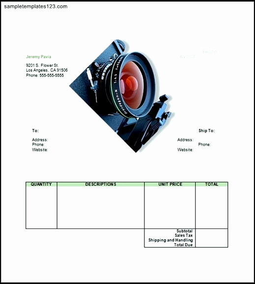 Photography Invoice Template Word Luxury Graphy Invoice Template Word
