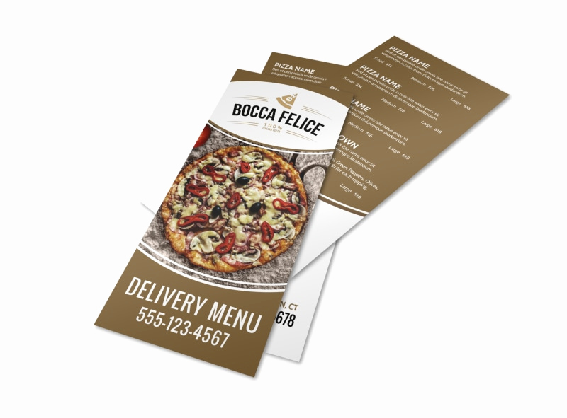 Pizza Menu Template Free Awesome Delivery Pizza Menu Template