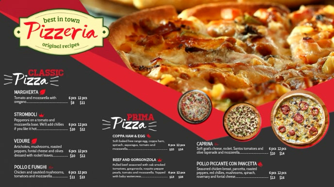 Pizza Menu Template Free Beautiful Pizza Menu Tv Ad Menu Template
