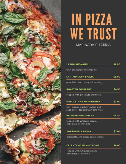 Pizza Menu Template Free Best Of Customize 54 Pizza Menu Templates Online Canva