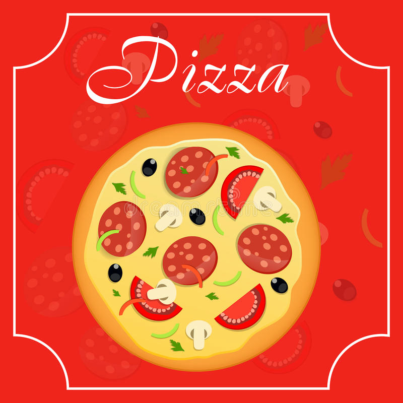 Pizza Menu Template Free Best Of Pizza Menu Template Vector Illustration Stock Vector