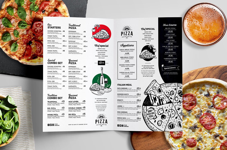 Pizza Menu Template Free Best Of Pizza Menu Templates In Psd Ai & Vector Brandpacks