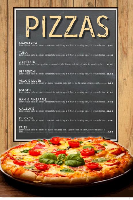 Pizza Menu Template Free Fresh Pizza Menu Restaurant Template