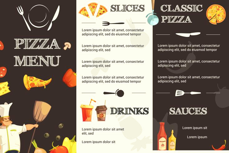 Pizza Menu Template Free Inspirational Pizza Menu Flat Template for Restaurant Download Free