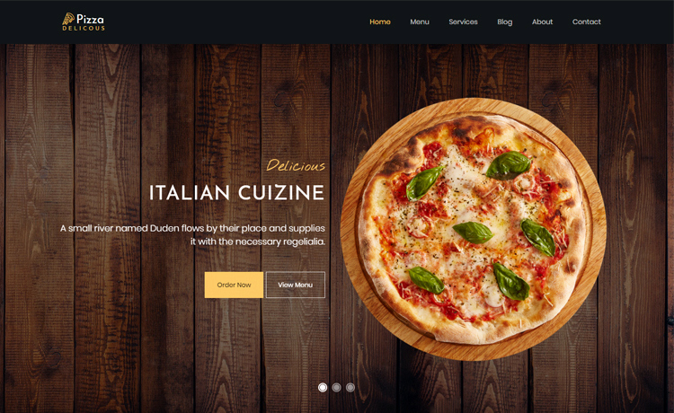 Pizza Menu Template Free Luxury Pizza Free Bootstrap 4 HTML5 Pizza Website Template