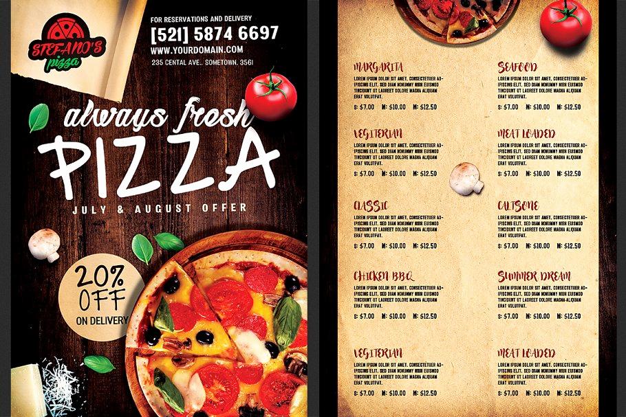 Pizza Menu Template Free New Pizza Flyer Menu Template Flyer Templates
