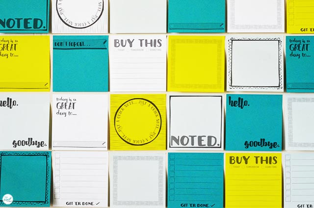 Post It Note Printing Template Beautiful Free Template for Diy Printable Sticky Notes