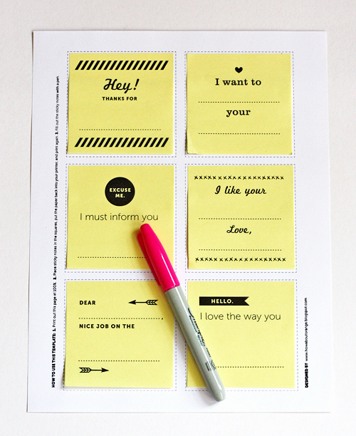 Post It Note Printing Template Best Of Print Your Own Post It Notes