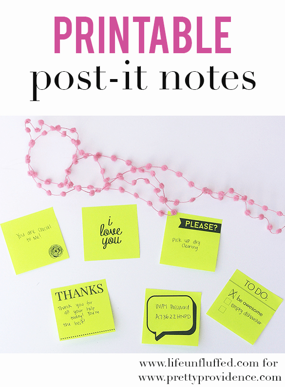 Post It Note Printing Template Best Of Printable Post It Notes Pretty Providence