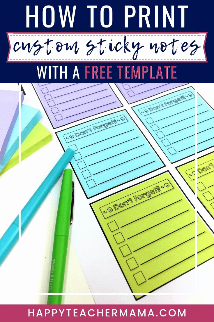 Post It Note Printing Template New How to Print Custom Sticky Notes with A Free Template