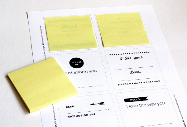 Post It Note Printing Template New Print Your Own Post It Notes