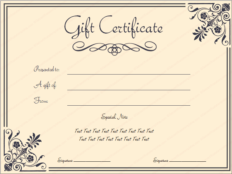 Printable Blank Gift Certificate Template Awesome Pin Templates 6 Business Gift Certificate Templates to